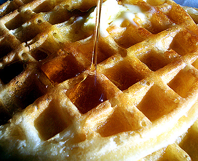 Lol, waffles have better textures and syrup.